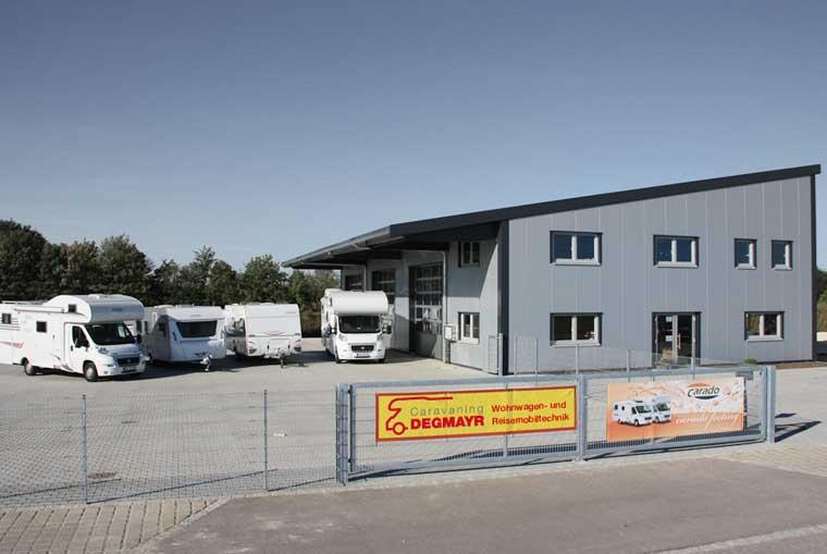 Firmengebäude Caravaning Degmayr